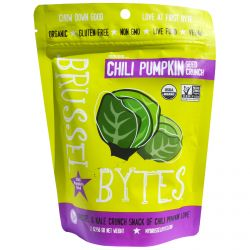 Wonderfully Raw Gourmet Delights, Brussel Bytes, Chili Pumpkin Seed Crunch, 2 oz (56 g)