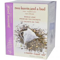 Two Leaves and a Bud, Jasmine Petal, Classic Chinese Green Tea, 15 Sachets, 1.6 oz (45 g)