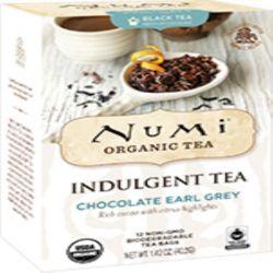 Numi Tea, Organic, Indulgent Tea, Chocolate Earl Grey, 12 Tea Bags, 1.42 oz (40.2 g)