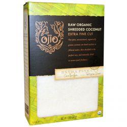 Ojio, Raw Organic Shredded Coconut, Extra Fine Cut, 12 oz (341 g)
