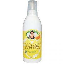 Earth Mama Angel Baby, Angel Baby Shampoo & Body Wash, Natural Orange Vanilla, 34 fl oz (1 l)