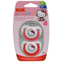 NUK, Hello Kitty Orthodontic Pacifier, 6-18 Months, 2 Pacifiers