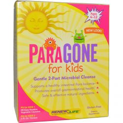 Renew Life, ParaGone for Kids, Gentle 2-Part Microbial Cleanse, 2 Part Kit