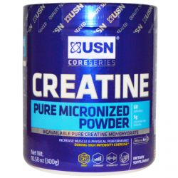 USN, Creatine, Pure Micronized Powder, Unflavored, 10.58 oz (300 g)