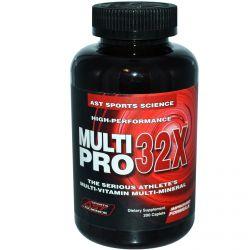 AST Sports Science, Multi Pro 32X, The Serious Athlete's Multi-Vitamin Multi-Mineral, 200 Caplets