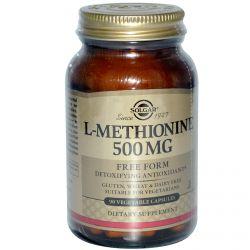 Solgar, L-Methionine, 500 mg, 90 Veggie Caps