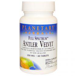 Planetary Herbals, Full Spectrum, Antler Velvet, 250 mg, 60 Tablets