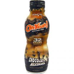 Oh Yeah!, Nutritional Shake, Chocolate Milkshake, 14 fl oz (414 ml)