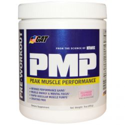 GAT, PMP, Pre-Workout, Peak Muscle Performance, Raspberry Lemonade, 9 oz (255 g)