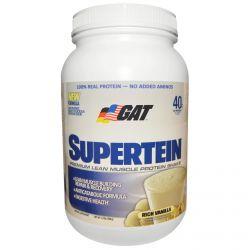 GAT, Supertein, Premium Lean Muscle Protein Shake, Rich Vanilla, 2.0 lbs (908 g)