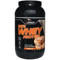 AI Sports Nutrition Anabolic Innovations, 100% Whey Protein, Cinnamon Roll, 2 lbs (924 g)