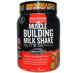 Muscletech, Six Star Pro Nutrition, Muscle Building Milk Shake, Decadent Chocolate, 2 lbs (907 g)