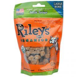 Riley's Organics, Dog Treats, Large Bone, Apple Recipe, 5 oz (142 g)