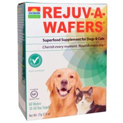 Sun Chlorella, Rejuv-A-Wafers, Superfood Supplement for Dogs & Cats, 60 Wafers