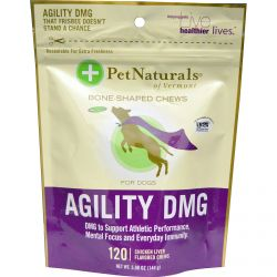 Pet Naturals of Vermont, Agility DMG For Dogs, Chicken Liver Flavored, 120 Chews, 5.08 oz (144 g)