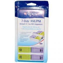 DNG Apex, 7-Day AM/PM Detach N' Go, 1 Pill Organizer