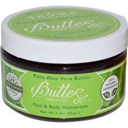 Aroma Naturals, Pure Aloe Vera Butter, Face & Body Moisturizer, 3.3 oz (95 g)
