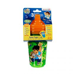 Munchkin, Go, Diego, Go!, Re-usable Twist Tight Sippy Cups, 3 Pack, 10 oz (296 ml) Each