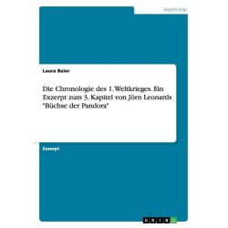 """Bücher: Die Chronologie des 1. Weltkrieges. Ein Exzerpt zum 3. Kapitel von Jörn Leonards """"Büchse der Pandora""""  von Laura Baier"""
