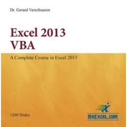 Excel 2013 VBA, Visual Training by Gerard M. Verschuuren, 9781615470310.