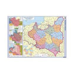 Polska. Mapa ścienna, historyczna 1:2 000 000
