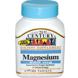 21st Century Health Care, Magnesium, 250 mg, 110 Tablets