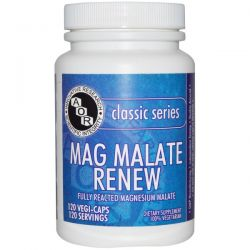 Advanced Orthomolecular Research AOR, Classic Series, Mag Malate Renew, 120 Veggie Caps