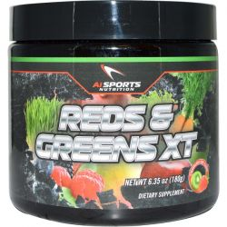 AI Sports Nutrition Anabolic Innovations, Reds & Greens XT, Strawberry Kiwi Flavor, 6.35 oz (180 g)