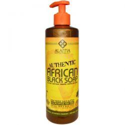 Alaffia, Authentic African Black Soap, Eucalyptus Tea Tree, 16 fl oz (475 ml)