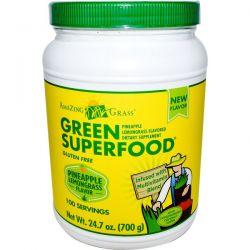 Amazing Grass, Green Superfood, Pineapple Lemongrass Flavored, 24.7 oz (700 g)