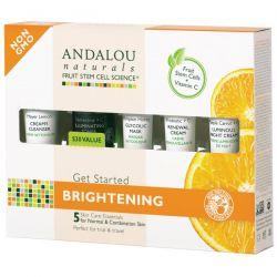 Andalou Naturals, Get Started Brightening, Skin Care Essentials, 5 Piece Kit