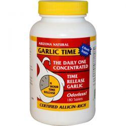 Arizona Natural, Garlic Time, 180 Tablets