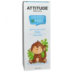 ATTITUDE, Little Ones, Baby Diaper Cream Zinc, Fragrance Free, 2.6 oz (75 g)