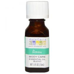 Aura Cacia, Body Care, Essential Oil Blend, Renew, .5 fl oz (15 ml)