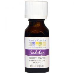 Aura Cacia, Body Care, Essential Oil Blend, Indulge, .5 fl oz (15 ml)