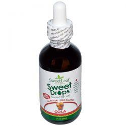Wisdom Natural, SweetLeaf Liquid Stevia, Sweet Drops Sweetener, Cola, 2 fl oz (60 ml)