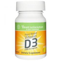 Vibrant Nutraceuticals, Vitamin D3, Plant Based, 1000 IU, 60 Capsules