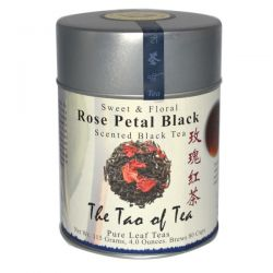 The Tao of Tea, Rose Petal Black Tea, Sweet & Floral Scented Black Tea, 4 oz (115 g)