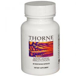 Thorne Research, Manganese Bisglycinate, 60 Veggie Caps