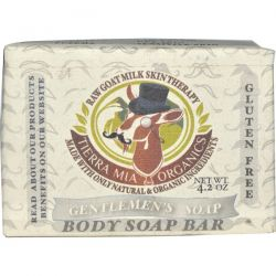 Tierra Mia Organics, Raw Goat Milk Skin Therapy, Body Soap Bar, Gentlemen's Soap, 4.2 oz