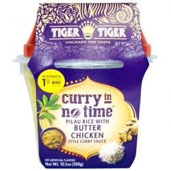 Tiger Tiger, Curry In No Time, Pilau Rice with Butter Chicken Style Curry Sauce, 10.5 oz (300 g)