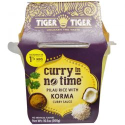 Tiger Tiger, Curry In No Time, Pilau Rice with Korma Curry Sauce, 10.5 oz (300 g)