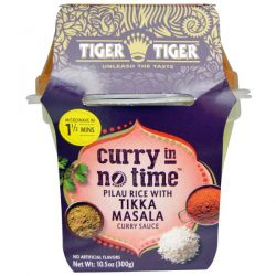 Tiger Tiger, Curry in No Time, Pilau Rice with Tikka Masala, Curry Sauce, 10.5 oz (300 g)