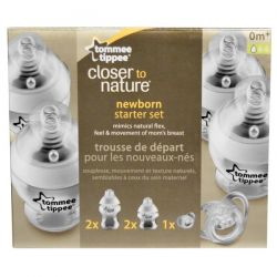 Tommee Tippee, Closer to Nature, Newborn Starter Set, Slow Flow, 5 Piece Set
