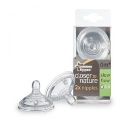 Tommee Tippee, Closer to Nature, Nipples, Slow Flow, 2 Nipples