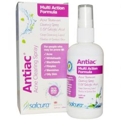 Salcura, Antiac, Acne Clearing Spray, Multi Action Formula, 3.4 fl oz (100 ml)