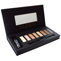 Studio Makeup, Nudes Eyeshadow Palette with Eye & Lip Primer, 0.32 oz (9.6 g)