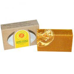 Sunfeather Soaps, Honey, Goat's Milk & Clover Bar Soap, 4.3 oz (121 g)