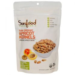 Sunfood, Raw Organic Apricot Kernels, Ambrosial Apricot Seeds, 8 oz (227g)