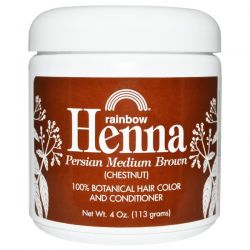 Rainbow Research, Henna, 100% Botanical Hair Color and Conditioner, Persian Medium Brown (Chestnut), 4 oz (113 g)